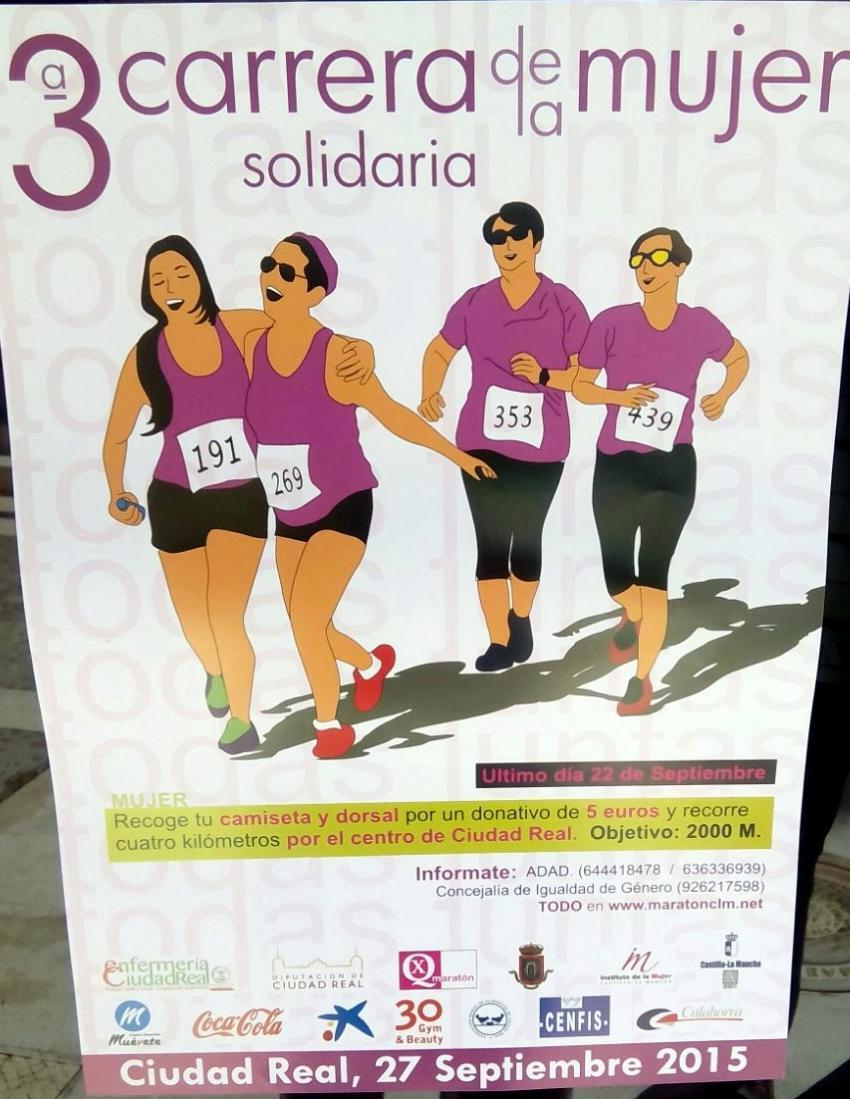 Más de 1.200 mujeres se inscriben en la 3ª Carrera de la Mujer Solidaria de Ciudad Real que se celebra este domingo