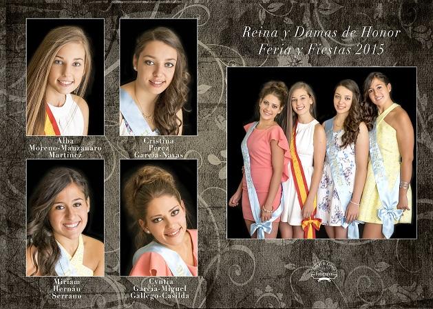 Reina y damas Feria de Herencia 2015