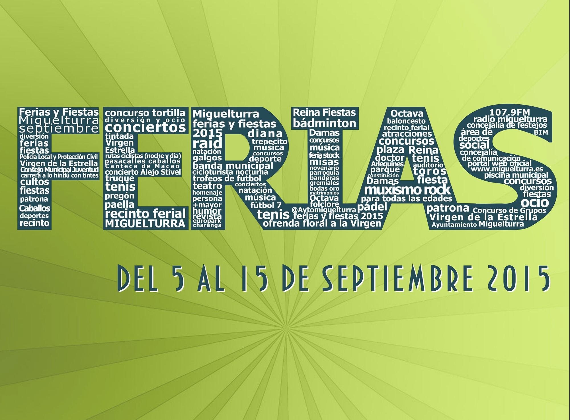 Las Fiestas de Miguelturra se celebrarán del 5 al 15 de septiembre y se ha pensado en una «feria de día» y una «feria de noche»