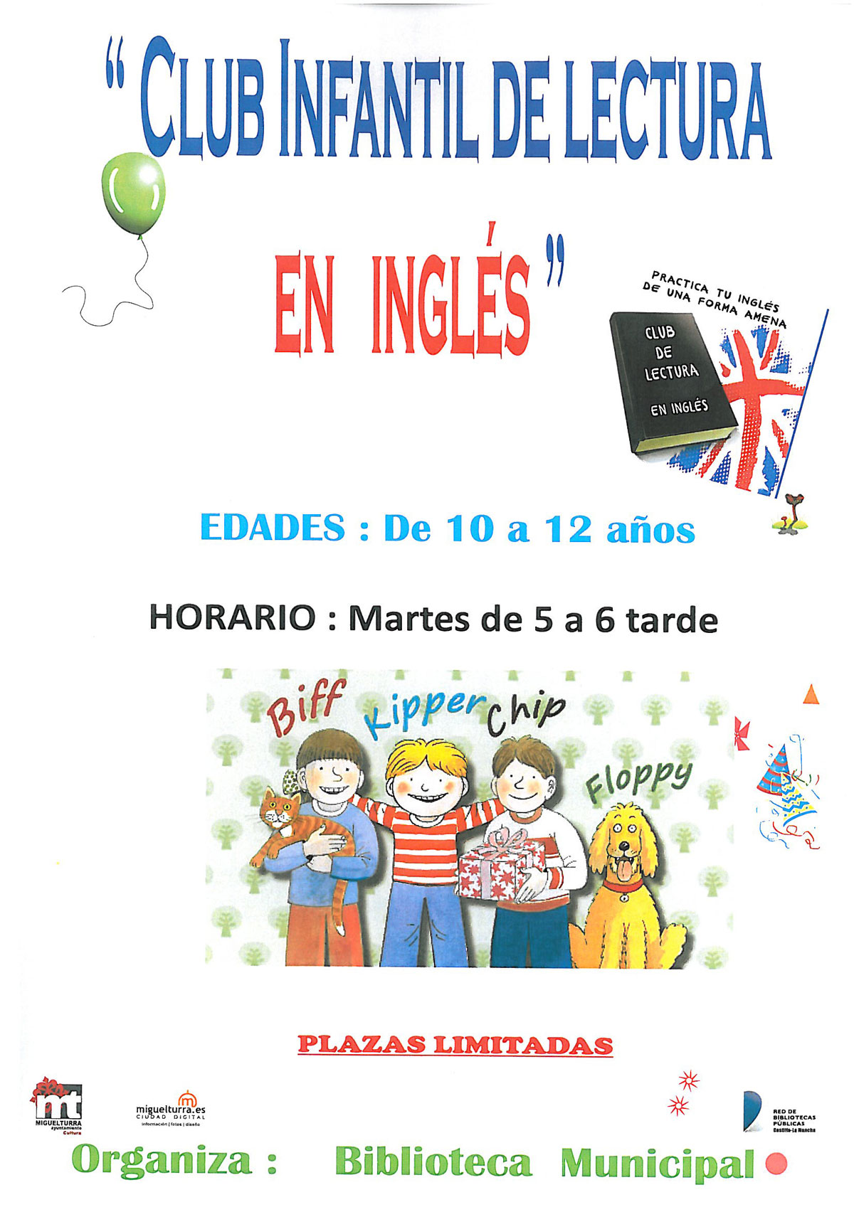 Club infantil de lectura en inglés