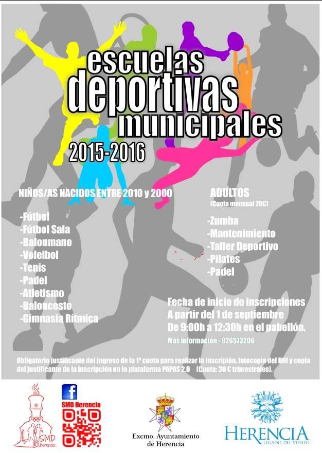 Abierto el plazo para la inscripción en las Escuelas Deportivas Municipales de Herencia