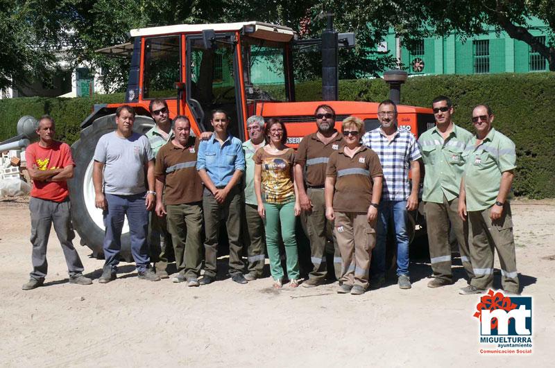 El Ayuntamiento adquiere un nuevo tractor para el Área de Medio Ambiente
