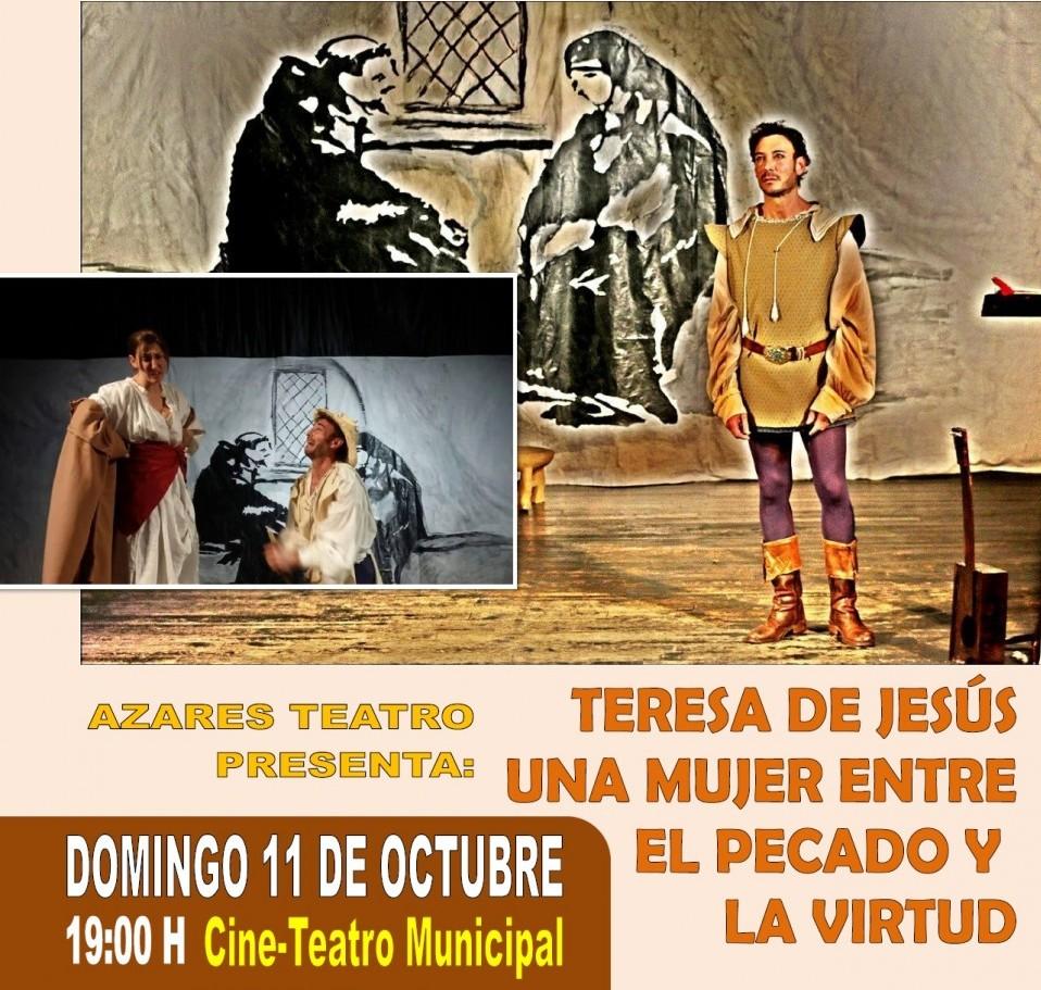 Con la obra » Teresa de Jesús, una mujer entre el pecado y la virtud » se abre la temporada teatral en Pedro Muñoz
