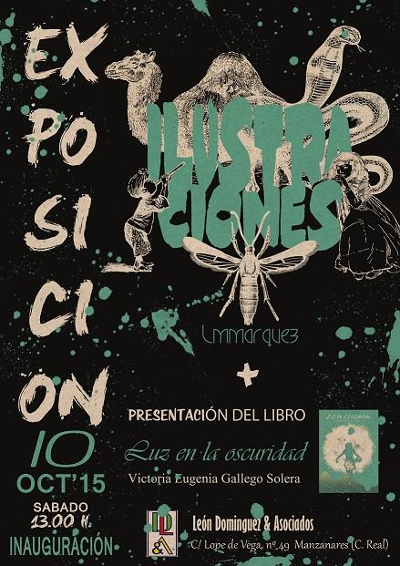 Exposición y presentación de un libro en la sala de exposiciones de León Dominguez & Asociados, de Manzanares