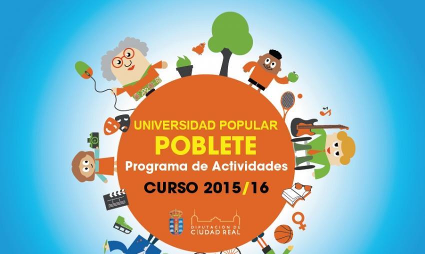 Programa de la univesidad popular de Poblete 2015