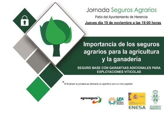 Sesión informativa en Herencia sobre la importancia de un Seguro base en las explotaciones vitícolas