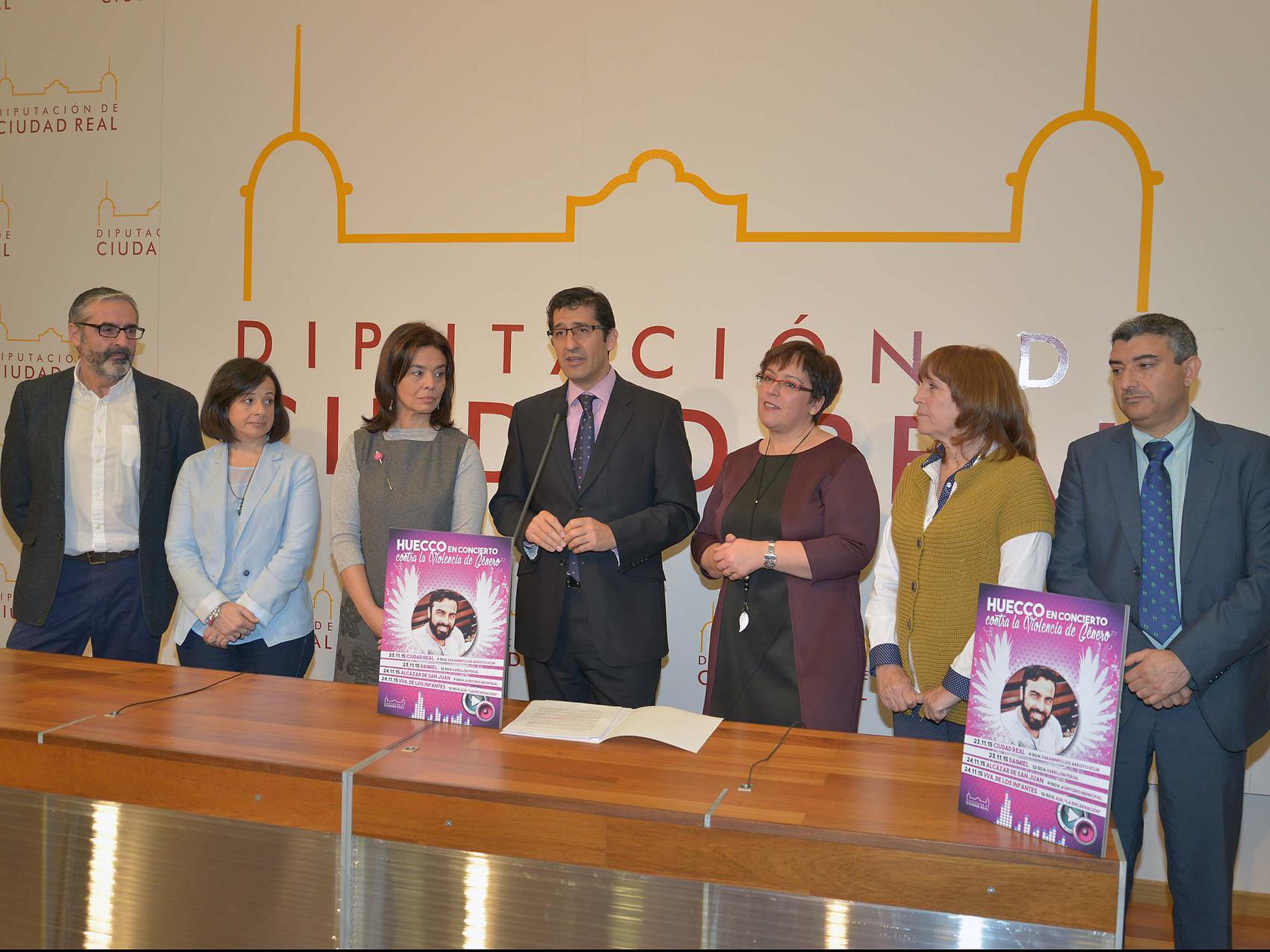 La Diputación visibiliza la violencia de género entre los jóvenes con 4 conciertos de » Huecco «