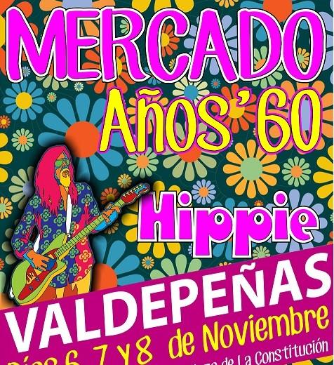 Valdepeñas regresa a los 60 este fin de semana con un mercado hippie