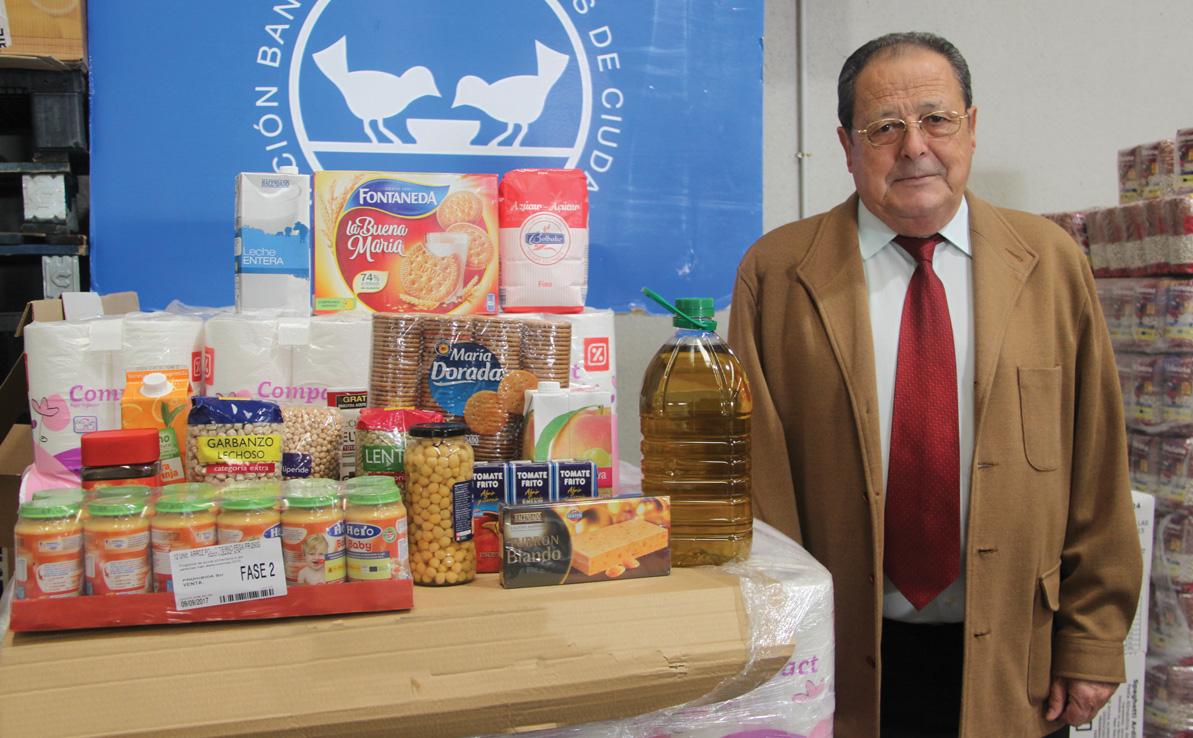 Segundo Alcázar. Presidente del Banco de Alimentos de Ciudad Real