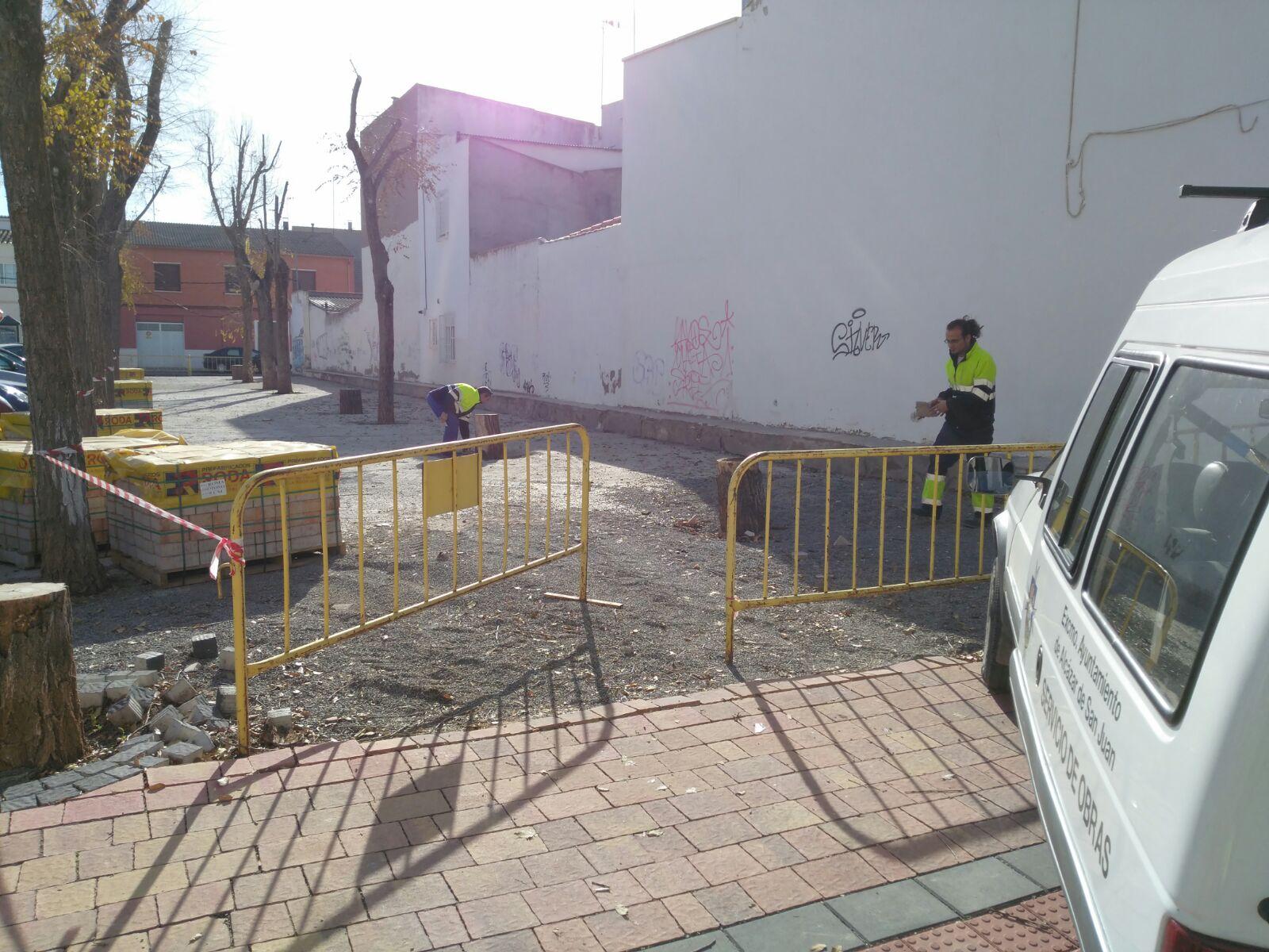 El ayuntamiento comienza las obras de accesibilidad y pavimentación en el parque del Grupo Renfe