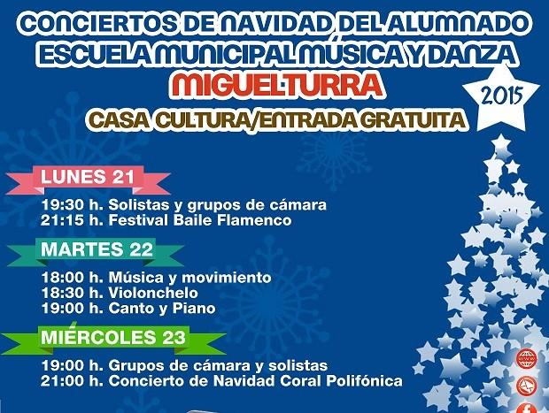 Conciertos de Navidad del alumnado de la Escuela Municipal de Música y Danza de Miguelturra