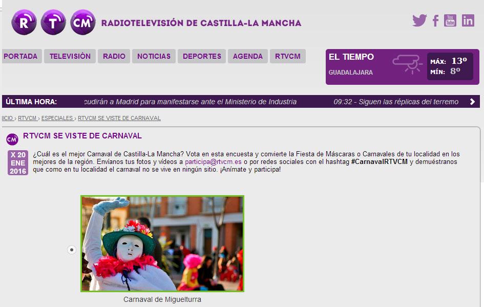 Miguelturra opta al mejor Carnaval de Castilla La Mancha de 2015 en el concurso de Radiotelevisión Castilla La Mancha