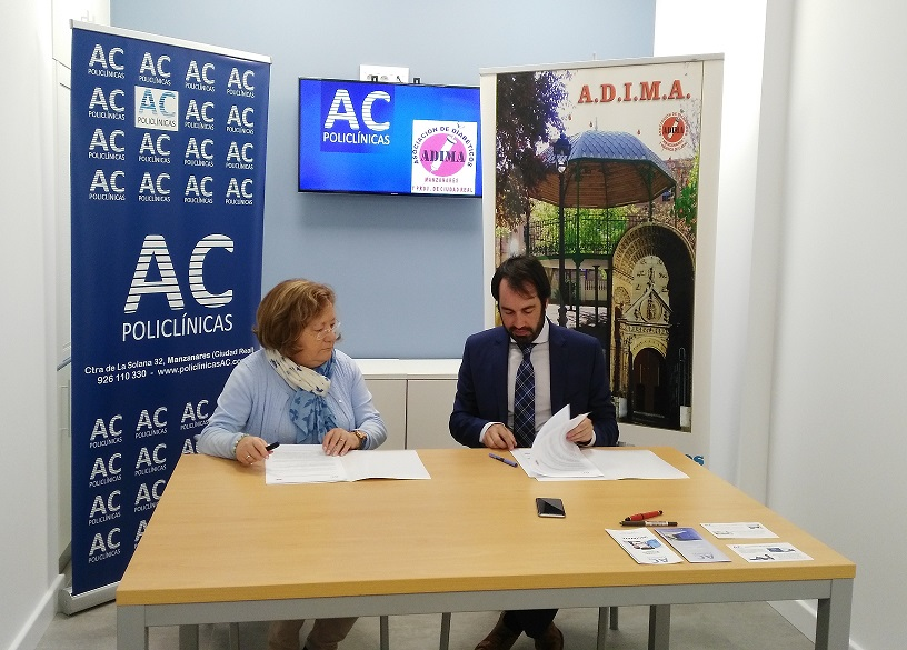 POLICLÍNICAS AC Y ADIMA firman un convenio de colaboración