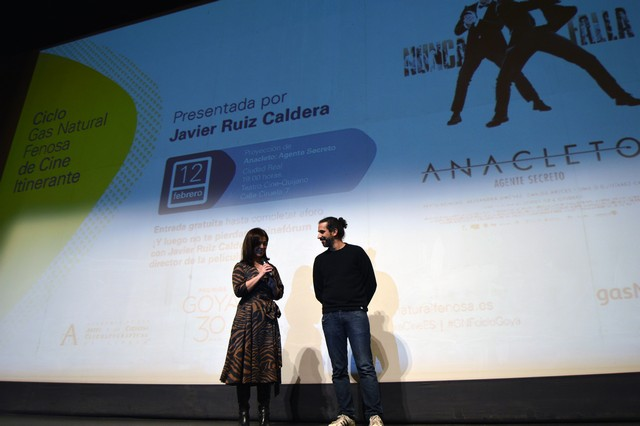"""Medio millar de personas asisten a la proyección de """" Anacleto """" dentro del Ciclo de Cine de los """"Goya"""""""
