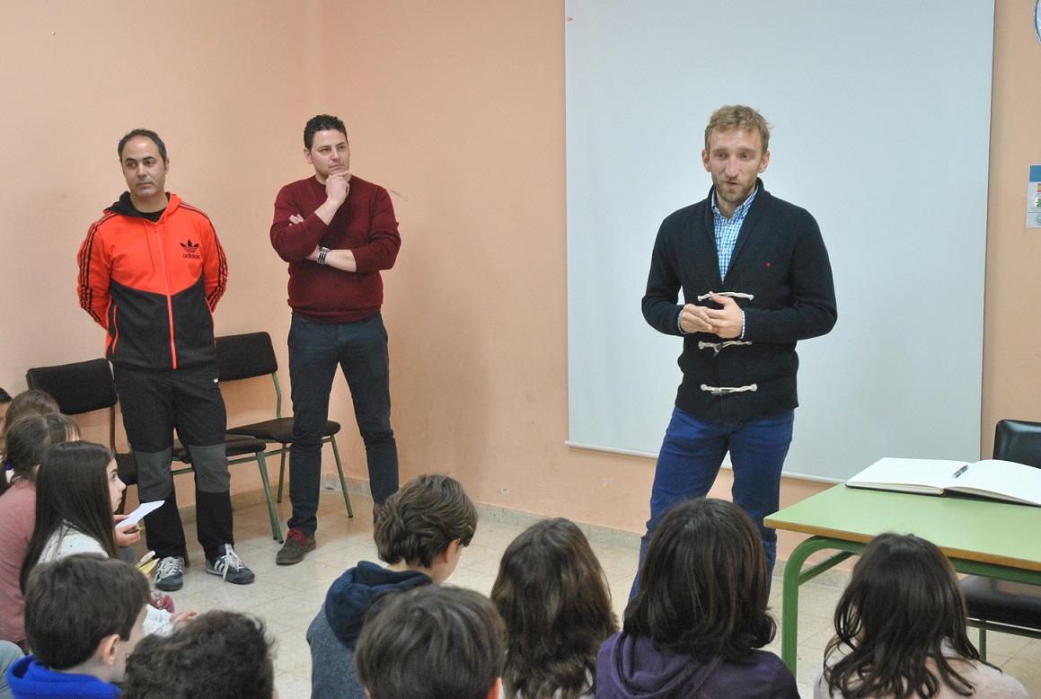 Diego Rivas participa en una actividad del colegio José Antonio incluida en el programa Erasmus +