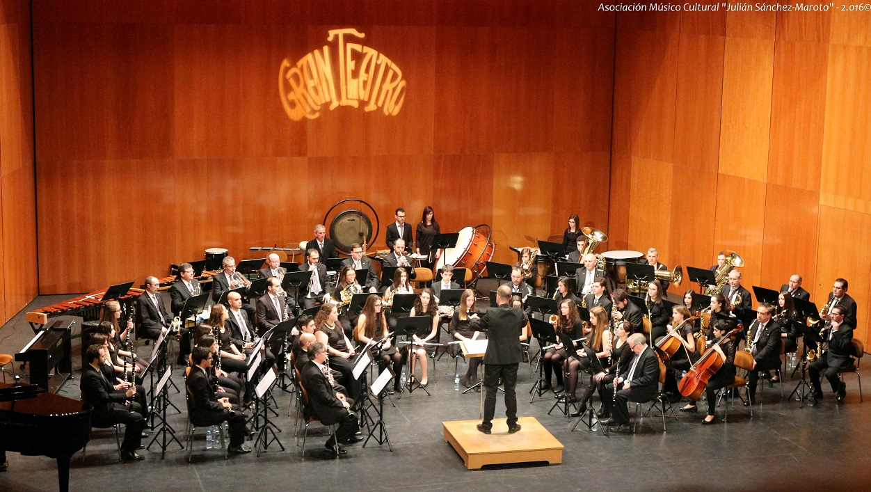 """La Asociación Músico Cultural """" Julián Sánchez-Maroto """" sorprendió por la variedad y originalidad de las obras escogidas en el Concierto de Primavera"""