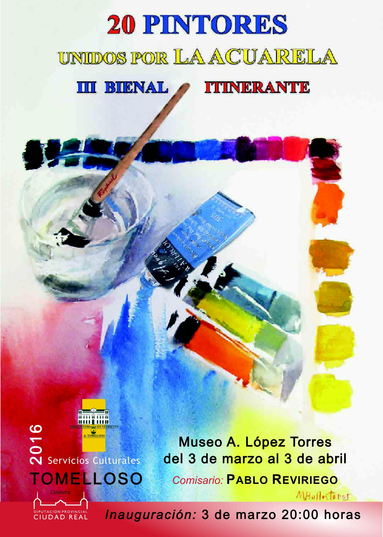 Cartel 20 pintores unidos por la acuarela