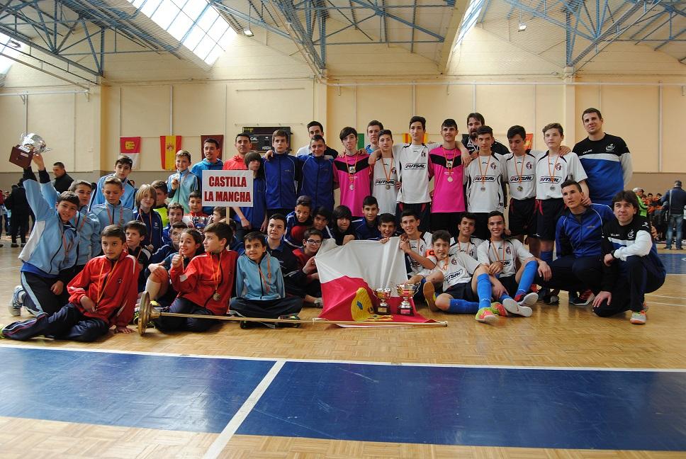 Fiesta del fútbol-sala base en Ciudad Real