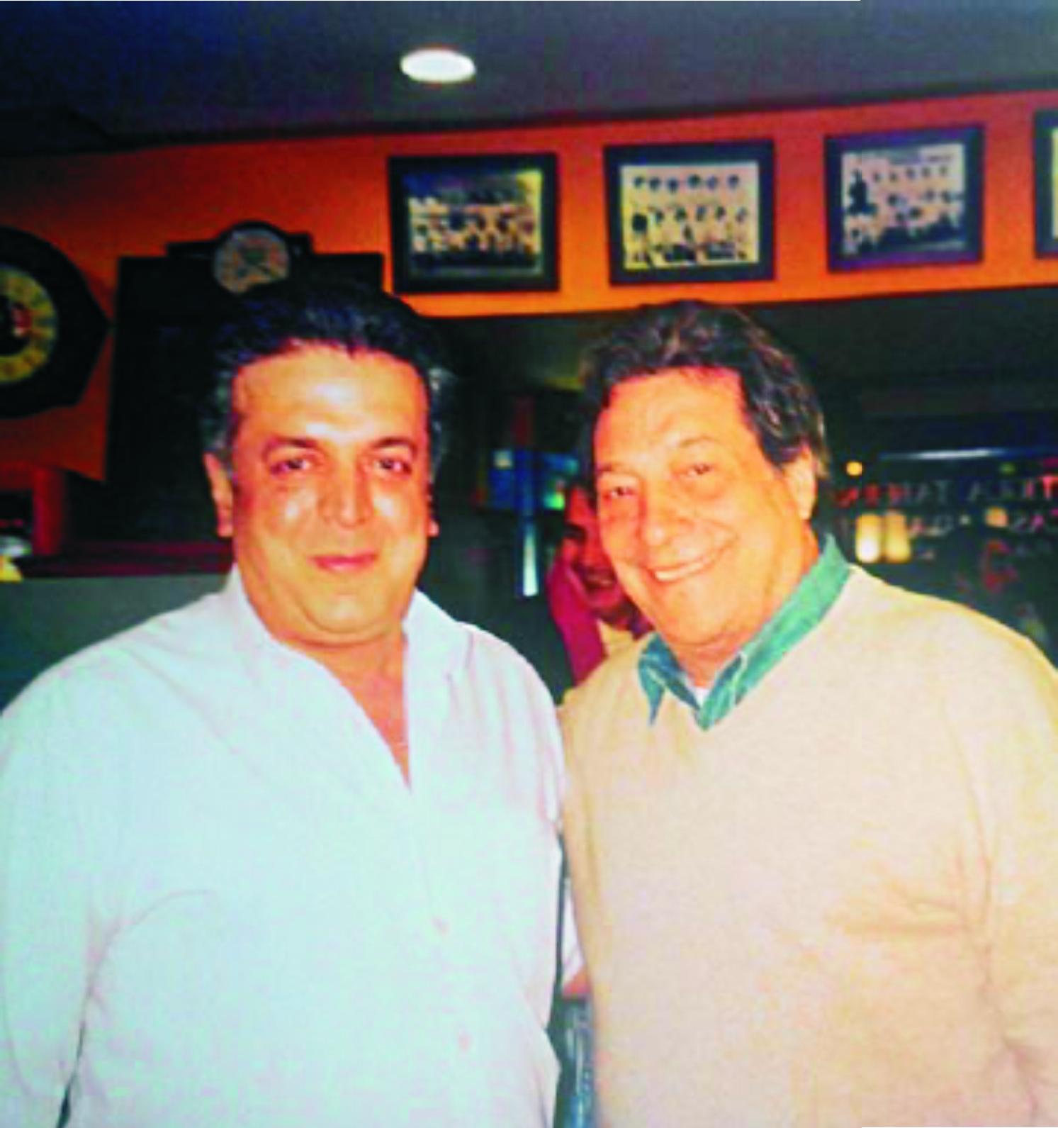 Jose Luis Álvarez junto al actor Sancho Gracia