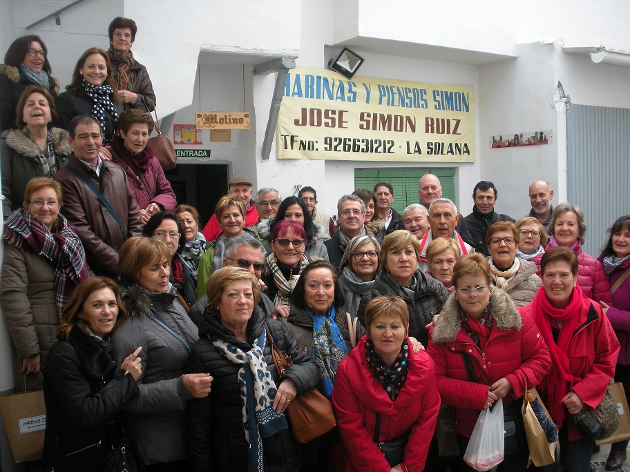 """Unas 40 personas de Valladolid visitaron el legendario molino """"San José"""" de La Solana"""