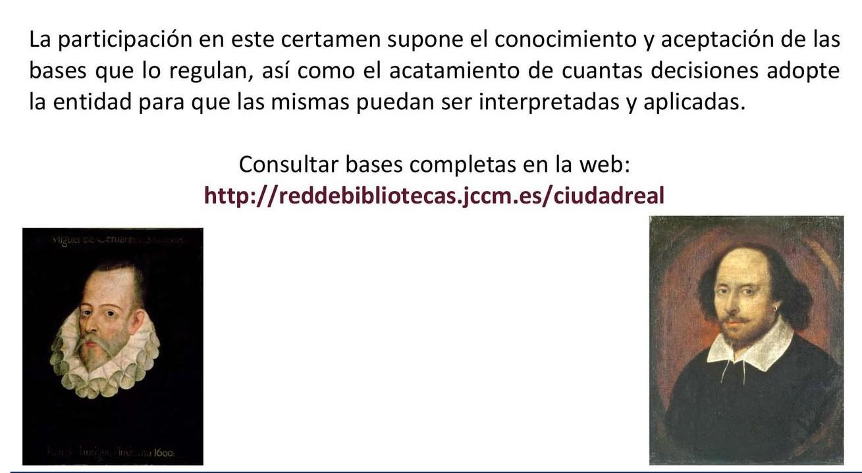 Diputación y Biblioteca del Estado en Ciudad Real se unen para celebrar EL IV centenario de Cervantes y Shakespeare