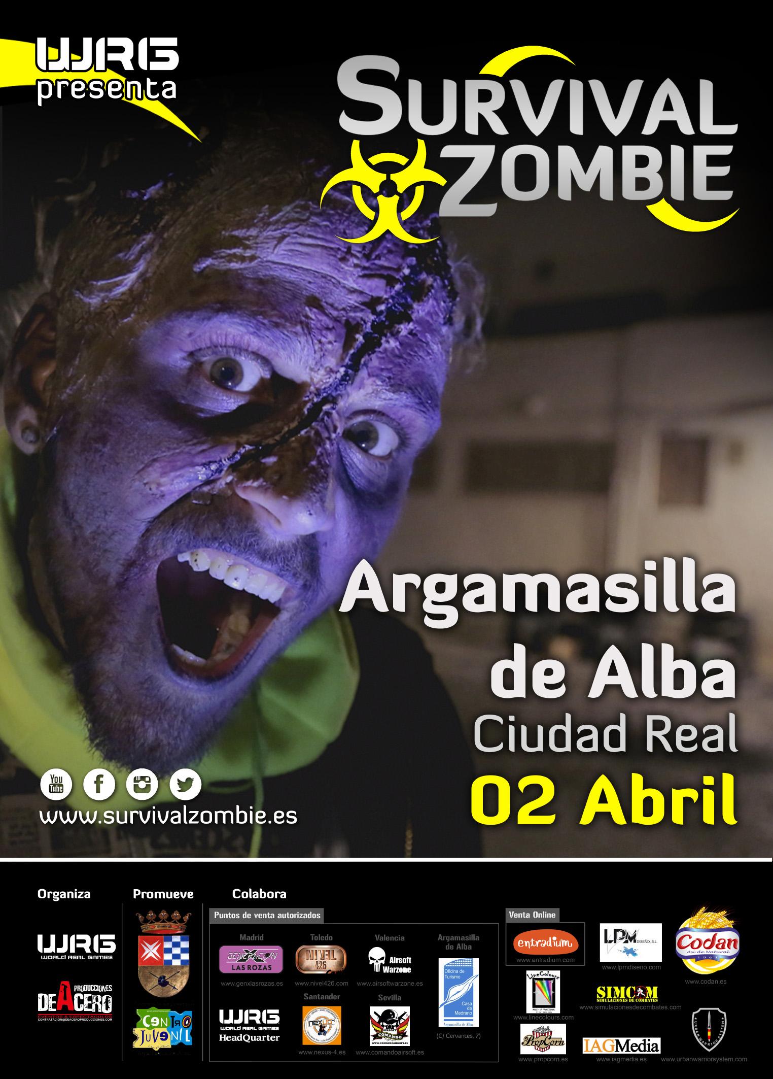 Venta entradas Survival zombie Argamasilla de Alba