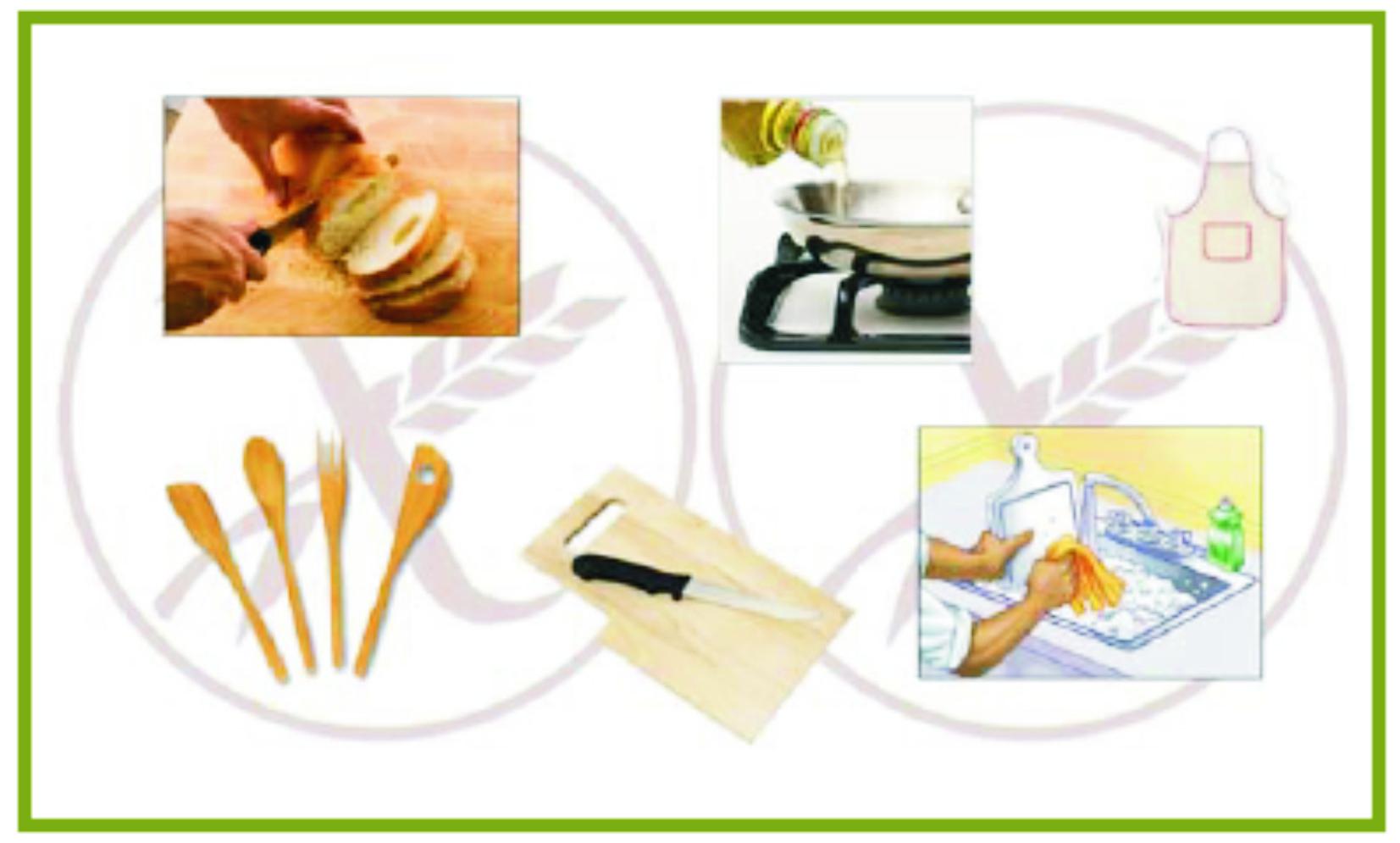 Manipulación de alimentos sin gluten en casa
