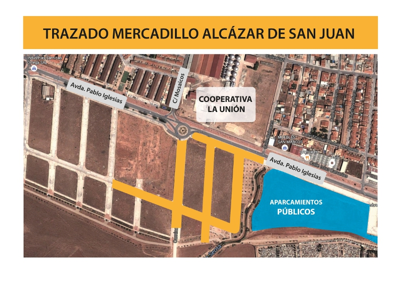 El mercadillo se instalará frente a la cooperativa de La Unión
