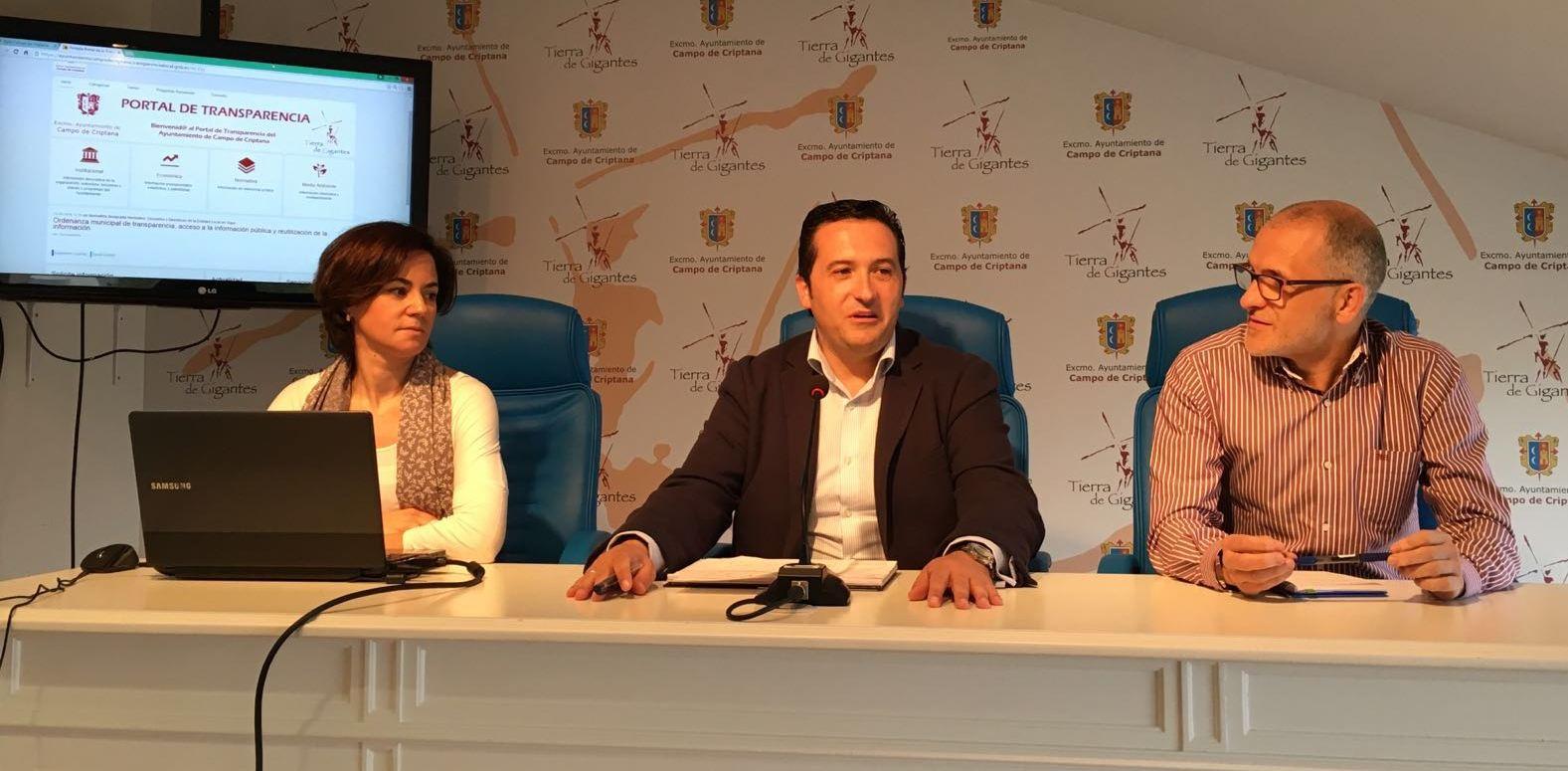 El Ayuntamiento de Campo de Criptana presenta su nuevo 'Portal de Transparencia'