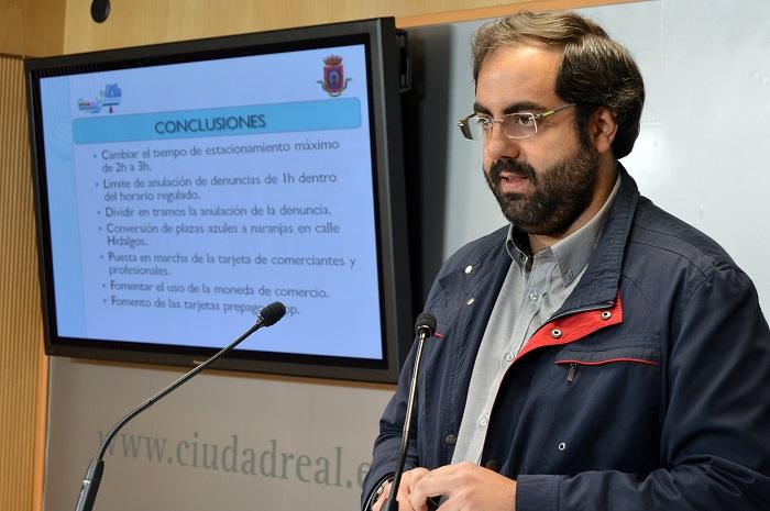 Movilidad presenta las propuestas para rediseñar la zona azul en Ciudad Real