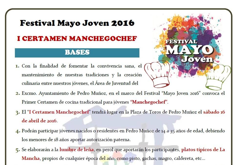 Abierta la inscripción para el I certamen gastronómico para jóvenes » Manchegochef «