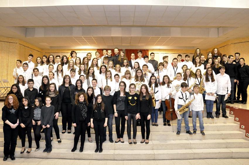 Carrión de Calatrava acogió el I Encuentro de Escuelas de Música, que reunió a cerca de un centenar de músicos de la comarca