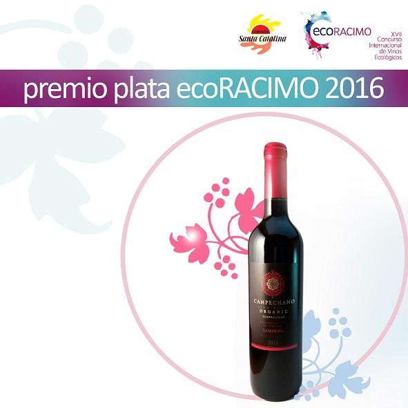 Campechano tempranillo, el tinto ecológico de la cooperativa Santa Catalina, premio de plata en Ecoracimo 2016