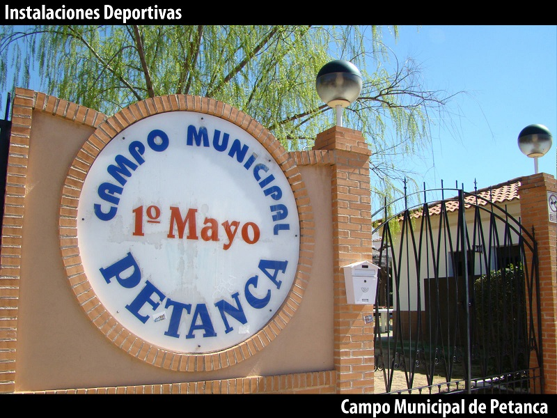 Entrada campo municipal de petanca Primero de Mayo de Miguelturra