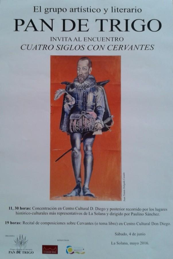 Cartel Cuatro siglos con Cervantes