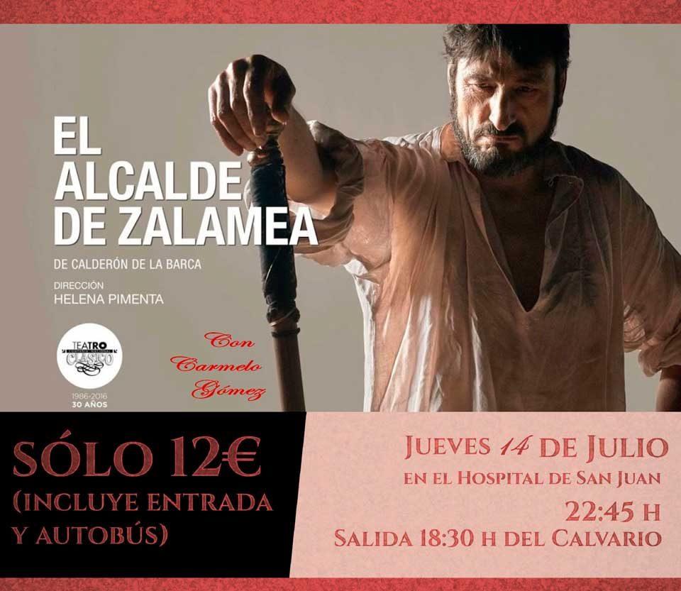 Abierto el plazo de reserva de plaza para asistir a la representación de «El Alcalde de Zalamea»