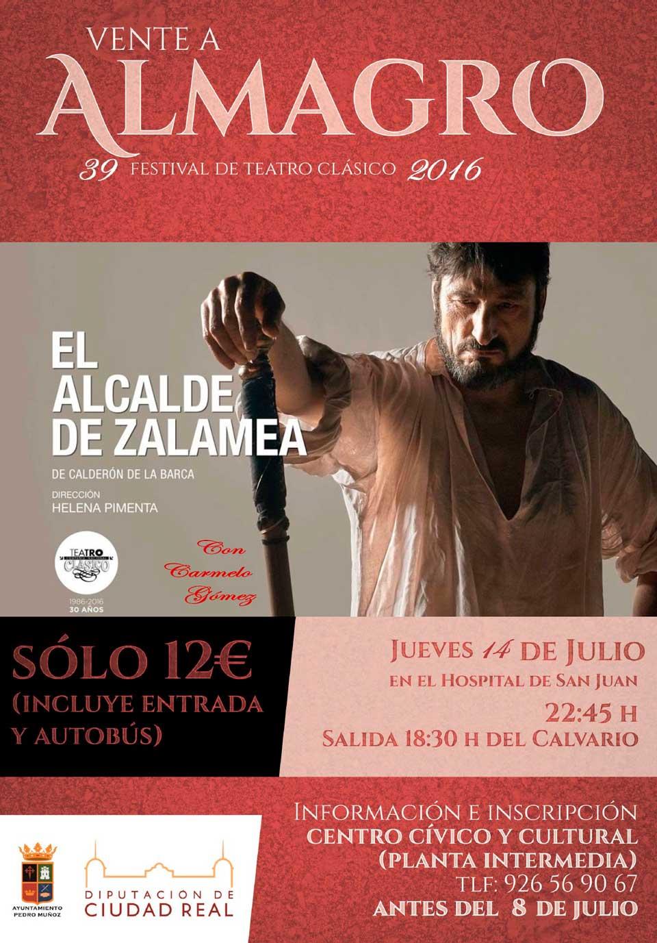 El jueves 14 de julio en Almagro, dentro de la trigésimo novena edición del Festival Internacional de Teatro Clásico