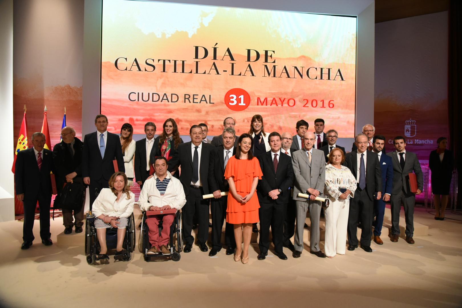El presidente de Castilla-La Mancha, Emiliano García-Page, preside el acto institucional celebrado con motivo del Día de la Región en Ciudad Real