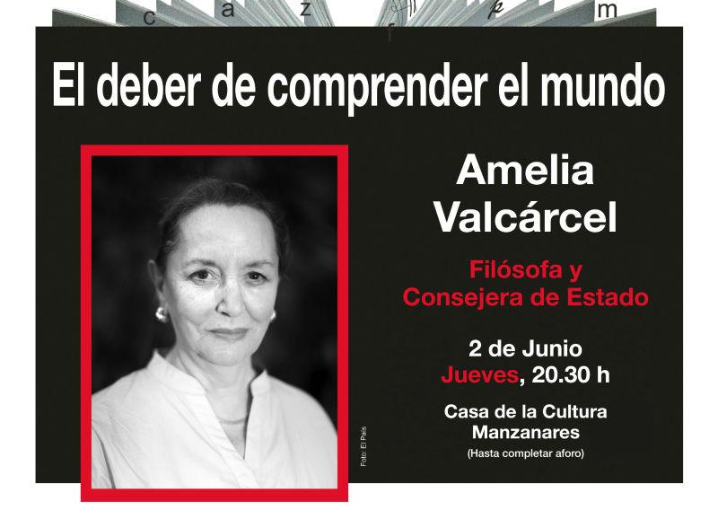 La filósofa Amelia Valcárcel hablará sobre el deber de los ciudadanos de comprender el mundo