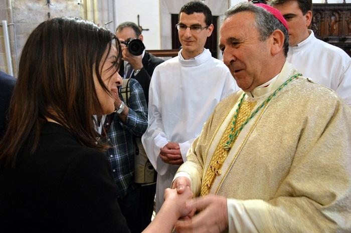 Pilar Zamora da la bienvenida a Ciudad Real al nuevo obispo de la Diócesis, D. Gerardo Melgar