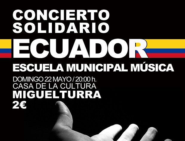 Concierto Solidario a favor de Ecuador de la Escuela Municipal de Música de Miguelturra