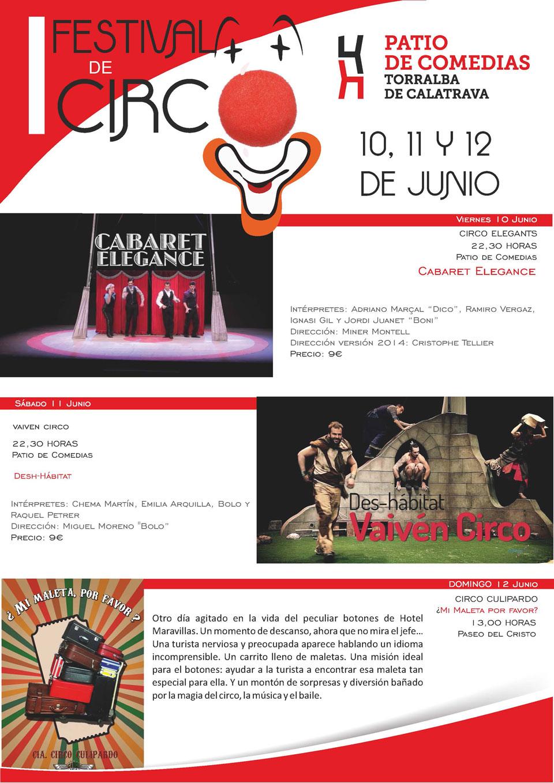 Cartel Festival de Circo de Torralba