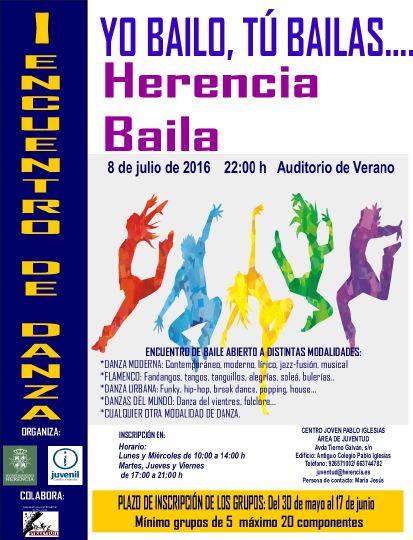 Cartel I Encuentro de Danza