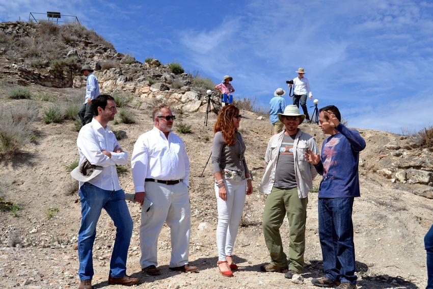 De izq a dcha, Víctor López-Menchero, Herbert Maschner, Ana María Lopez, Mathew Vincent y Miguel Ángel Hervás
