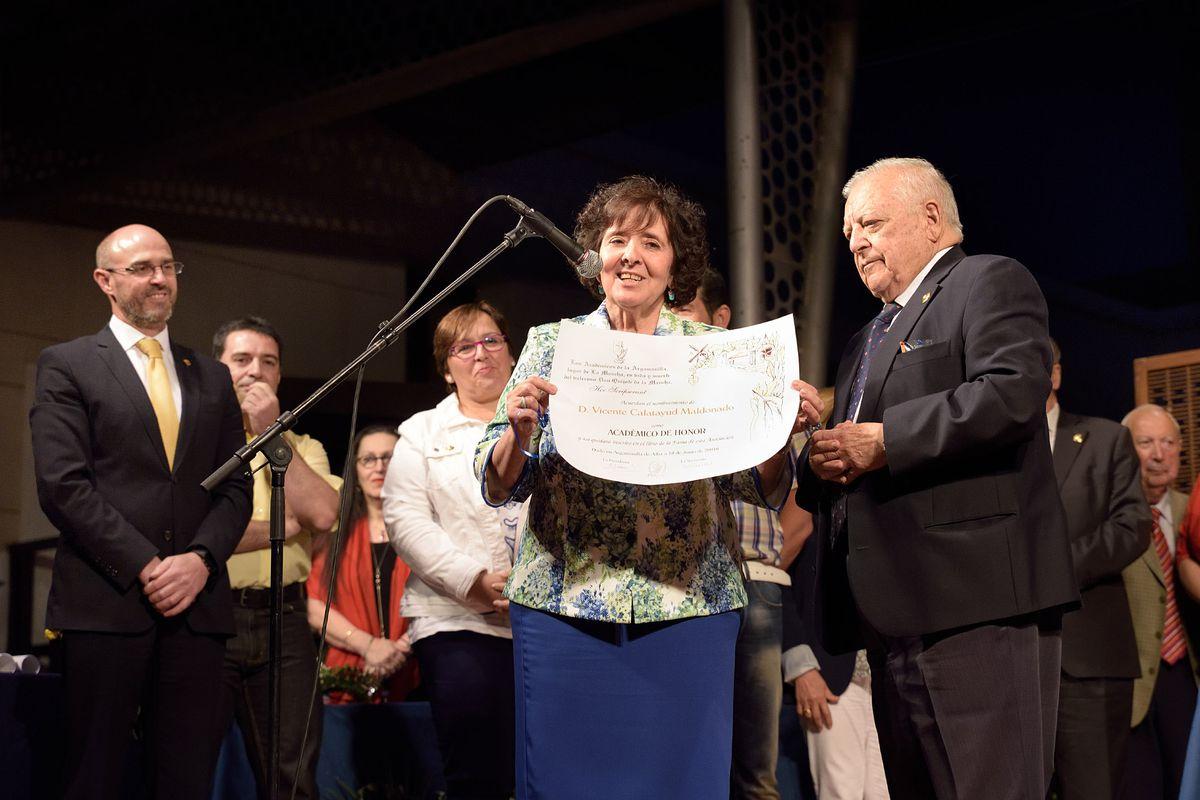 Vicente Calatayud nombrado Académico de Honor en el XV Juicio Crítico Literario de Los Académicos de la Argamasilla