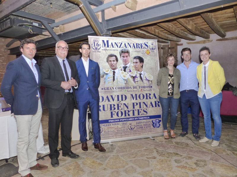 David Mora, Rubén Pinar y Jiménez Fortes forman el ilusionante cartel de la feria de Manzanares