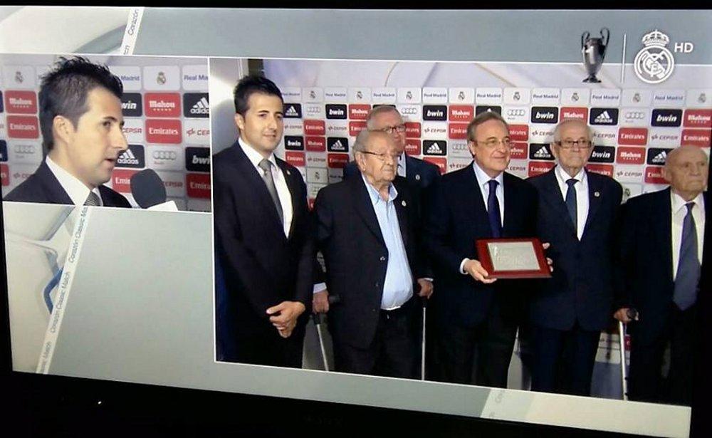 Peña Real Madrid con Florentino Pérez