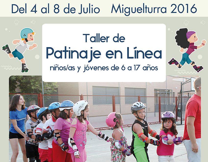 Taller de patinaje en línea para niños, niñas y jóvenes de 6 a 17 años