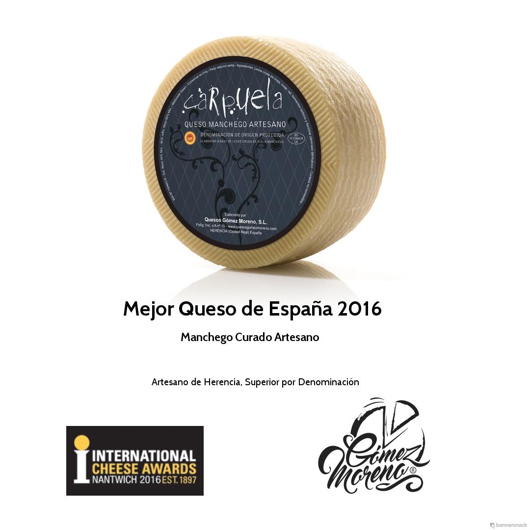 Carpuela de Quesos Gómez Moreno de Herencia elegido Mejor Queso de España 2016 en el concurso International CheeseAwards