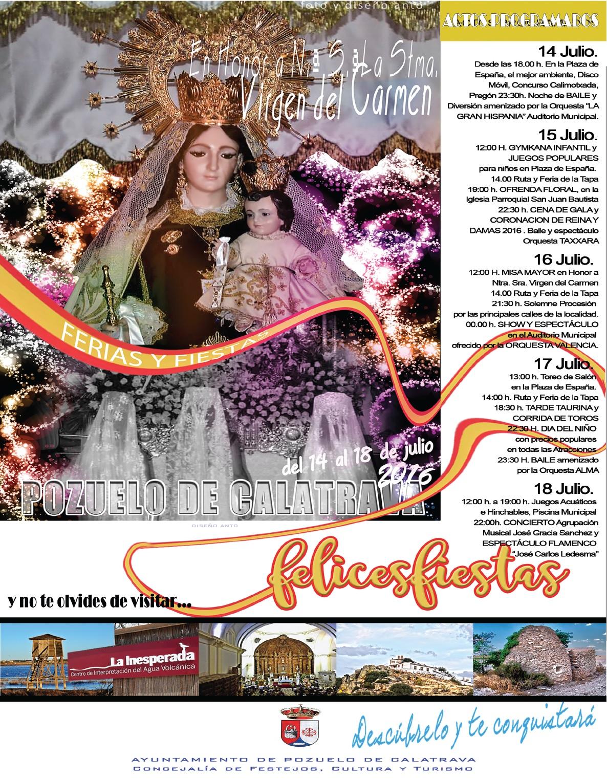 Cartel Fiestas de Pozuelo de Cva.